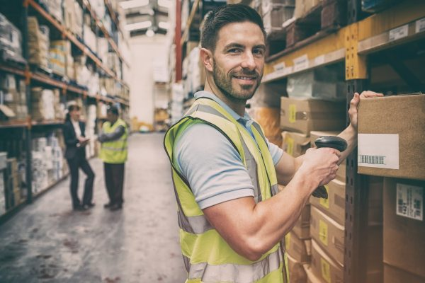 Man working at warehouse